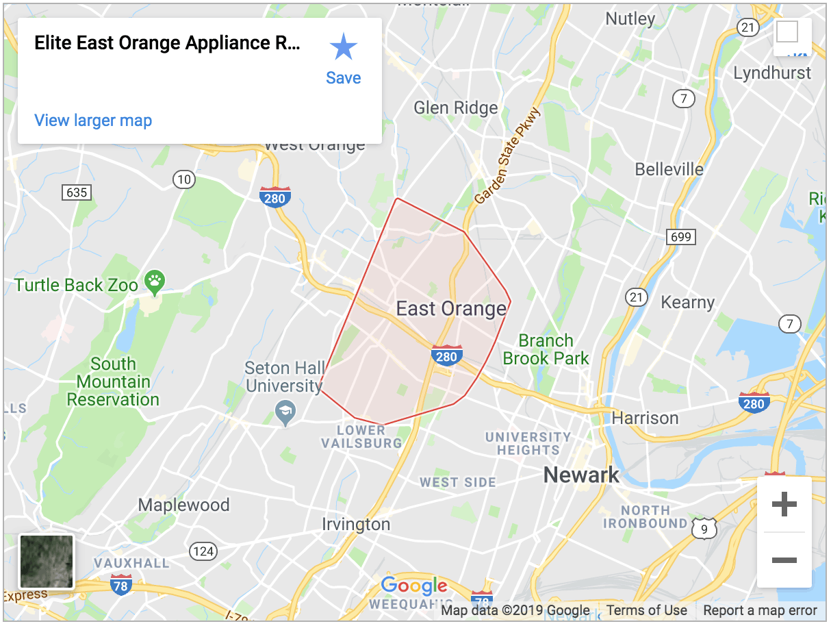 east orange map